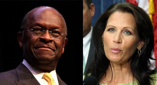 Herman Cain and Michelle Bachmann